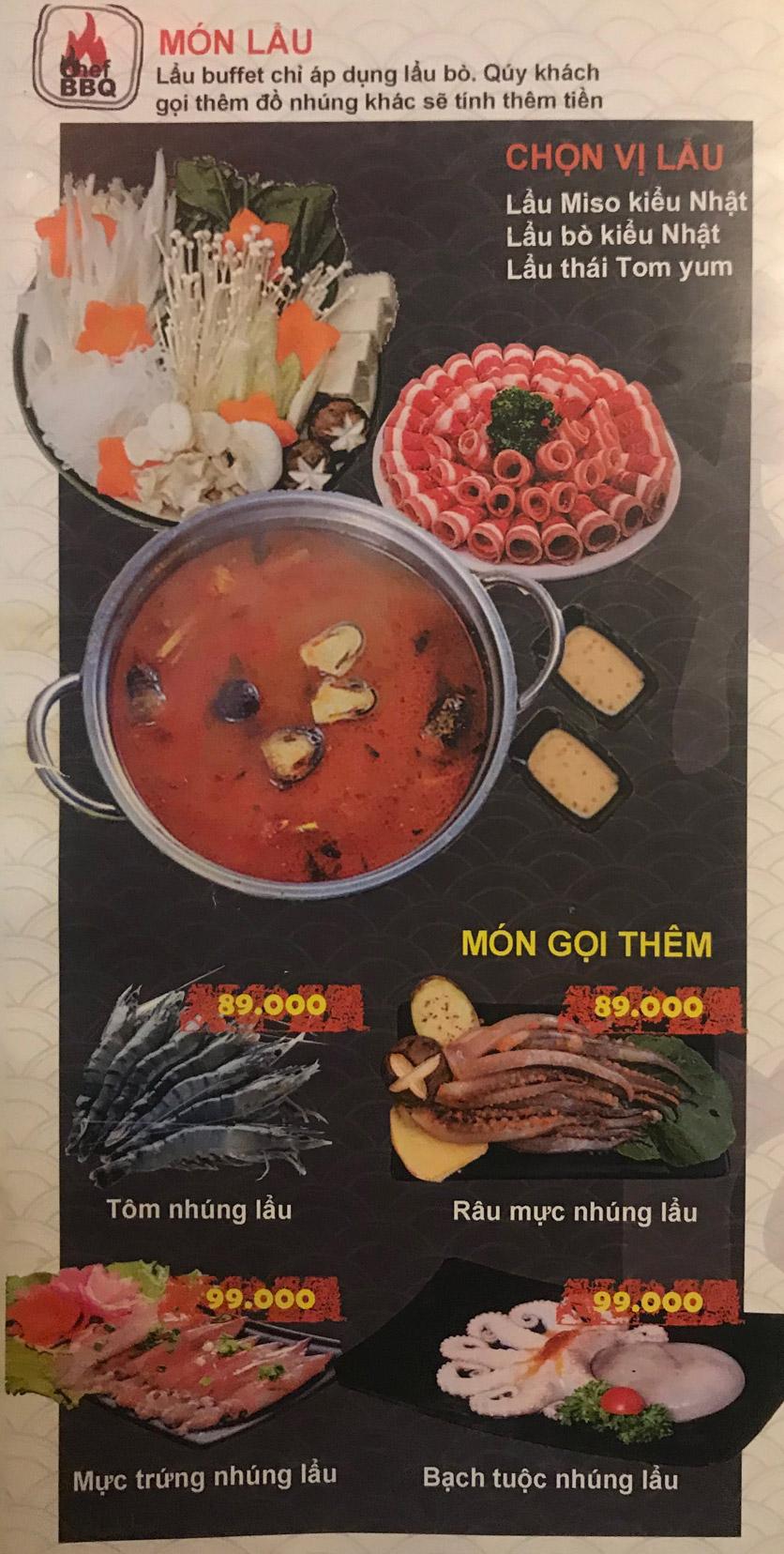 Menu Chef BBQ - Nghĩa Tân 9