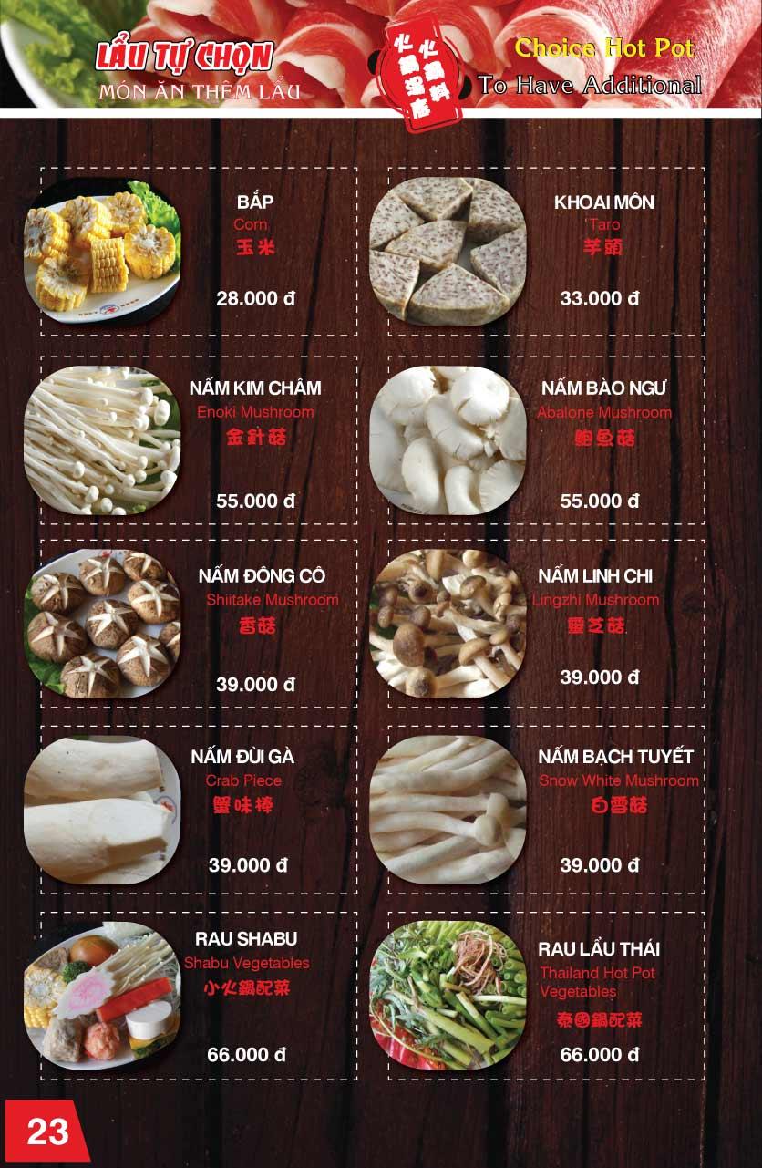 Menu Chen - Nguyễn Trãi 23