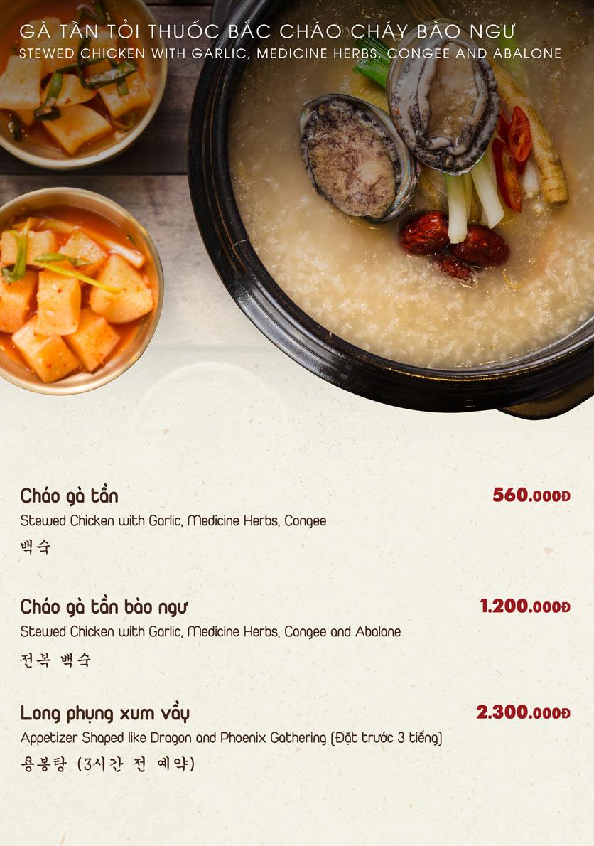 Menu Chum Restaurant - Nguyễn Thị Định 3