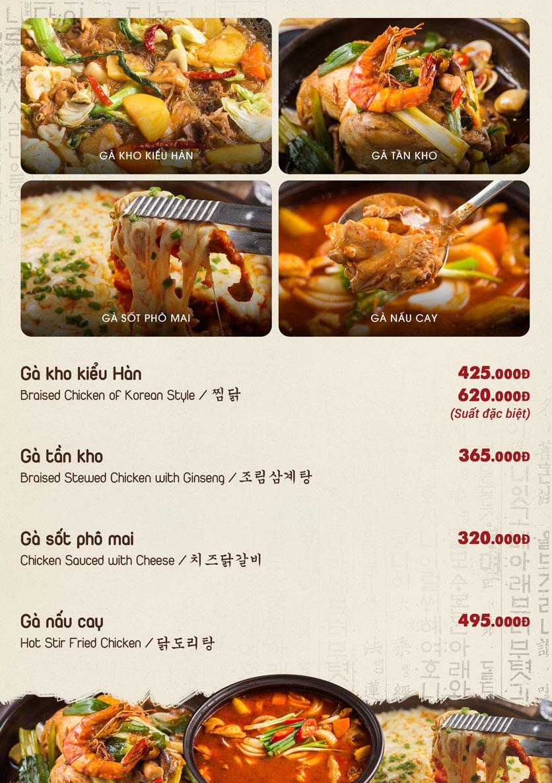 Menu Chum Restaurant - Nguyễn Thị Định 4