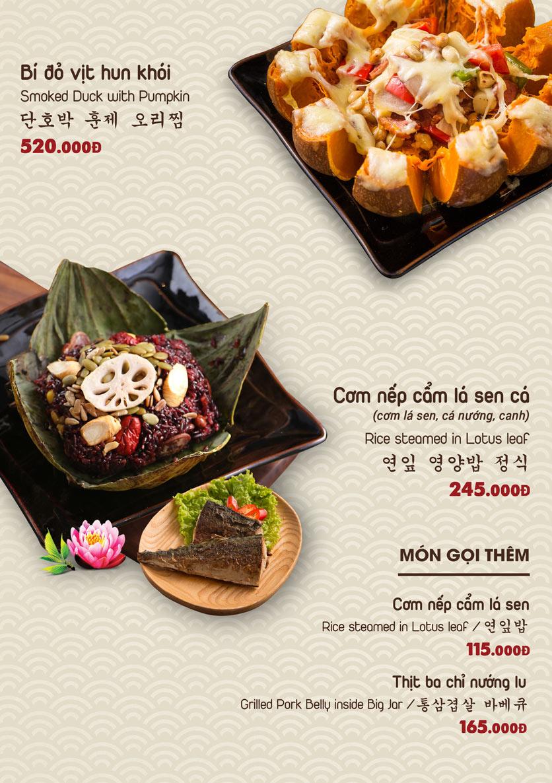 Menu Chum Restaurant - Nguyễn Thị Định 5