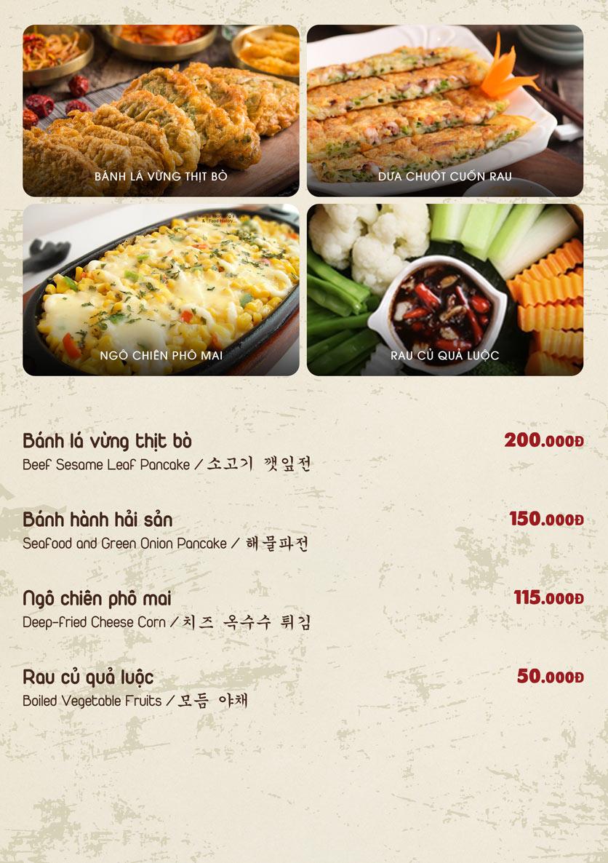 Menu Chum Restaurant - Nguyễn Thị Định 6