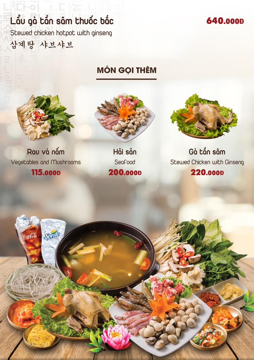 Menu Chum Restaurant - Nguyễn Thị Định 9