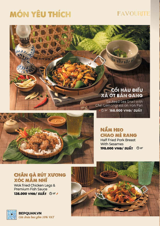 Menu Bếp Quán – Thợ Nhuộm 3
