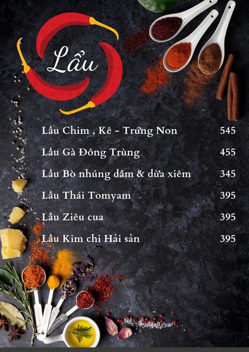 Menu Bếp Xuka - Nhà Chung 1