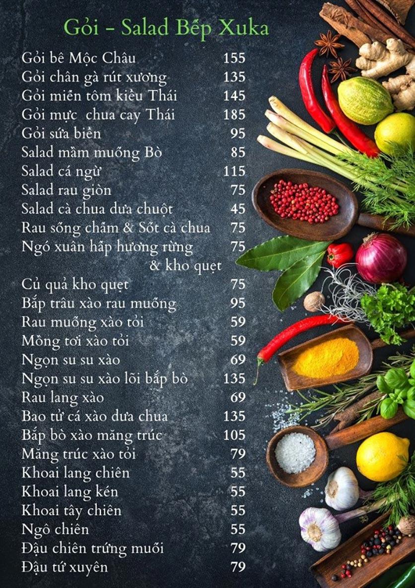 Menu Bếp Xuka - Nhà Chung 6