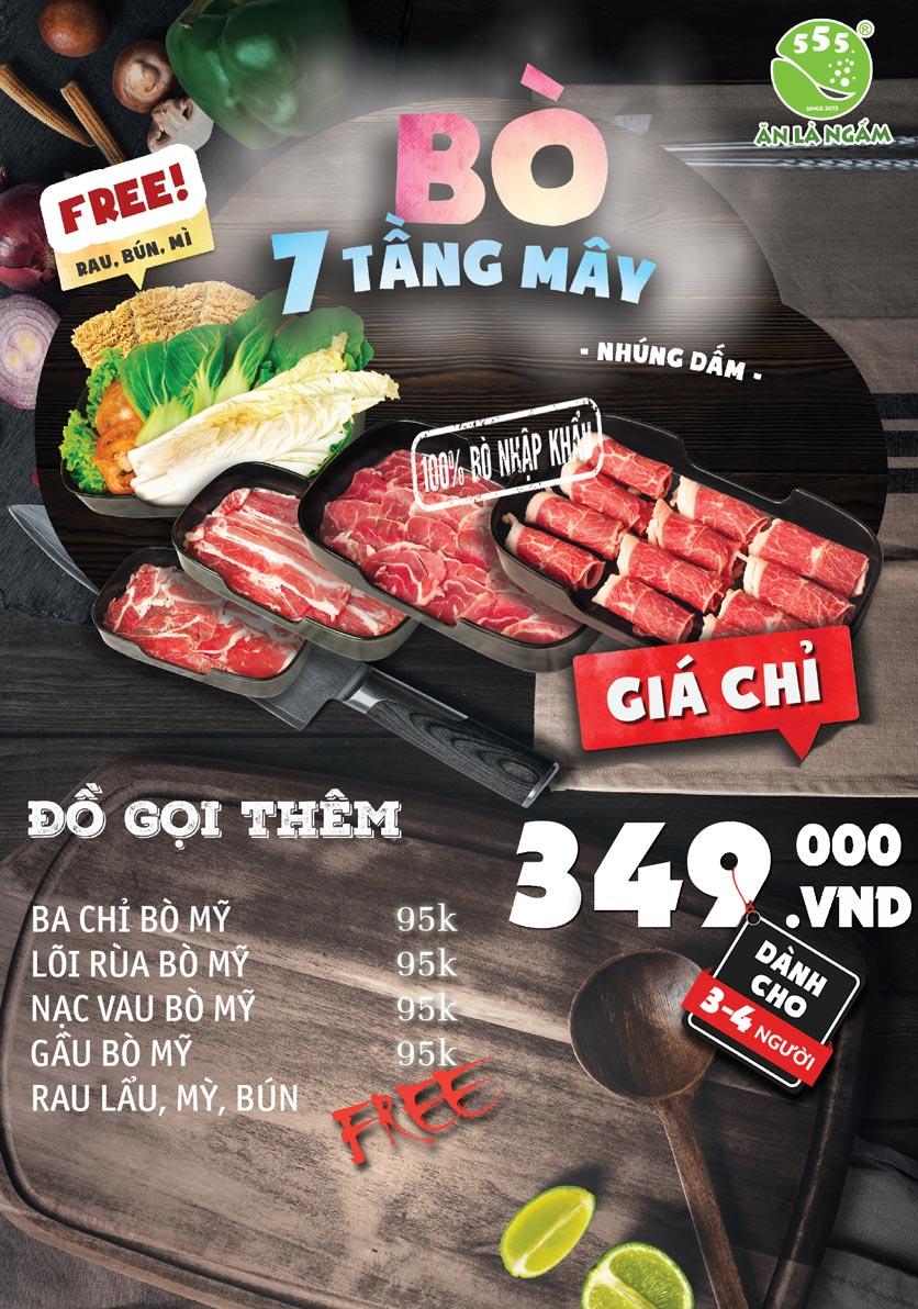 Menu Bò Ngon 555 - Đền Lừ  10