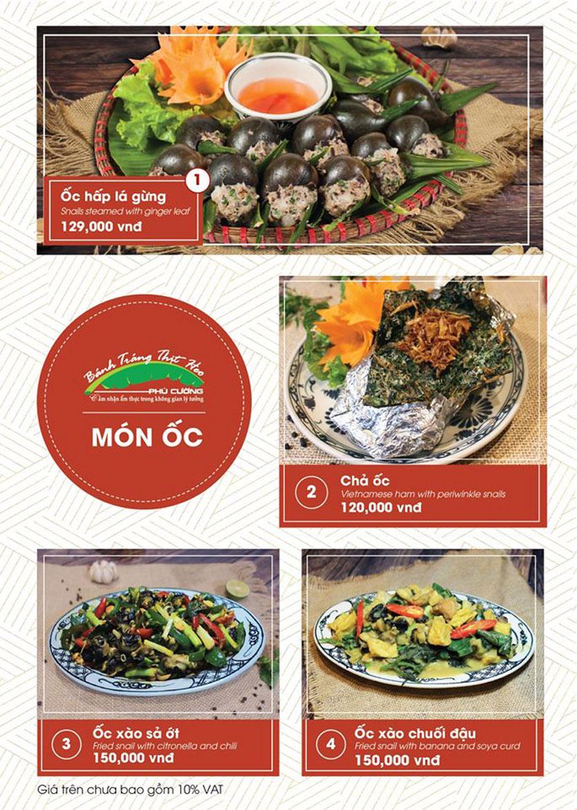 Menu Bánh Tráng Thịt Heo Phú Cường - Vũ Phạm Hàm   21