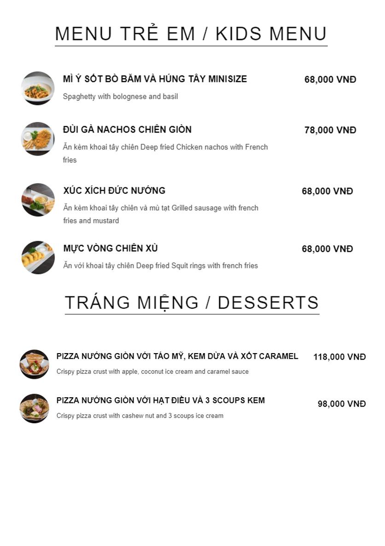 Menu Della Seta - Hoàng Quốc Việt 14