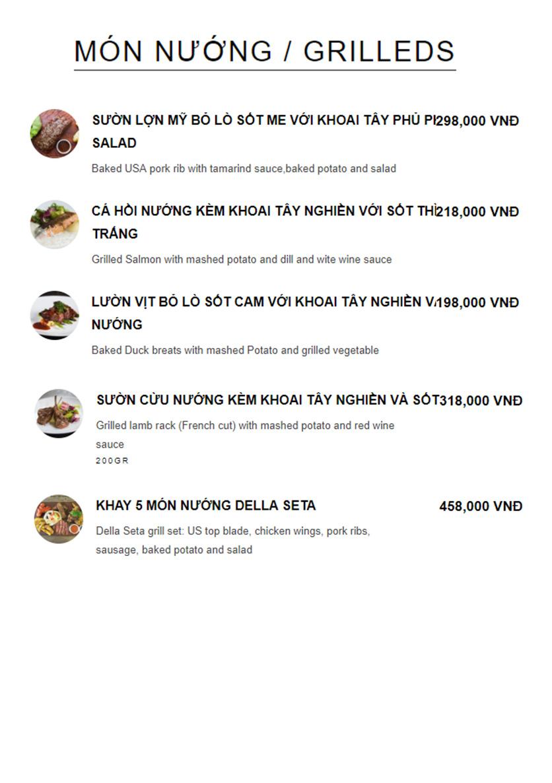 Menu Della Seta - Hoàng Quốc Việt 10