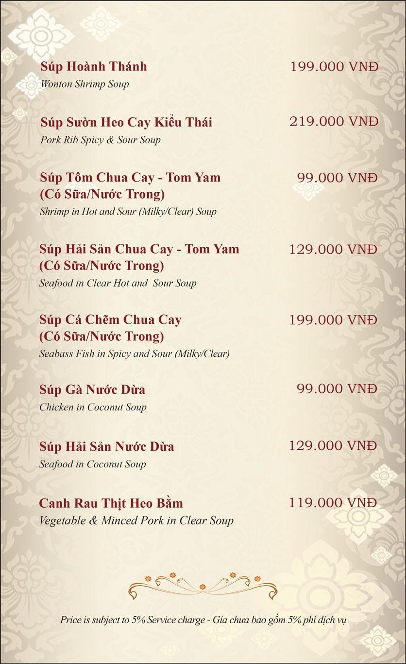 Menu Gusto Thai - Nguyễn Chí Thanh 9