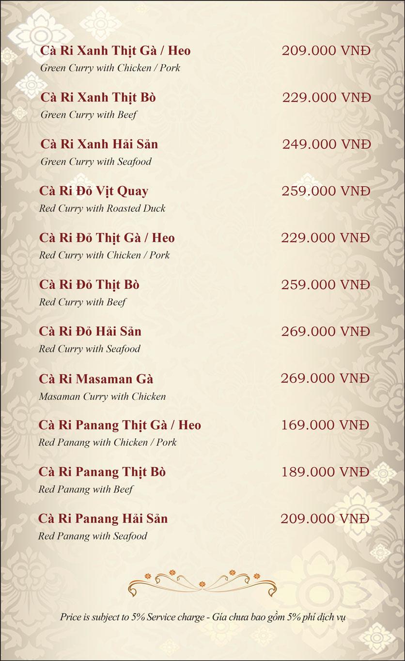 Menu Gusto Thai - Nguyễn Chí Thanh 11