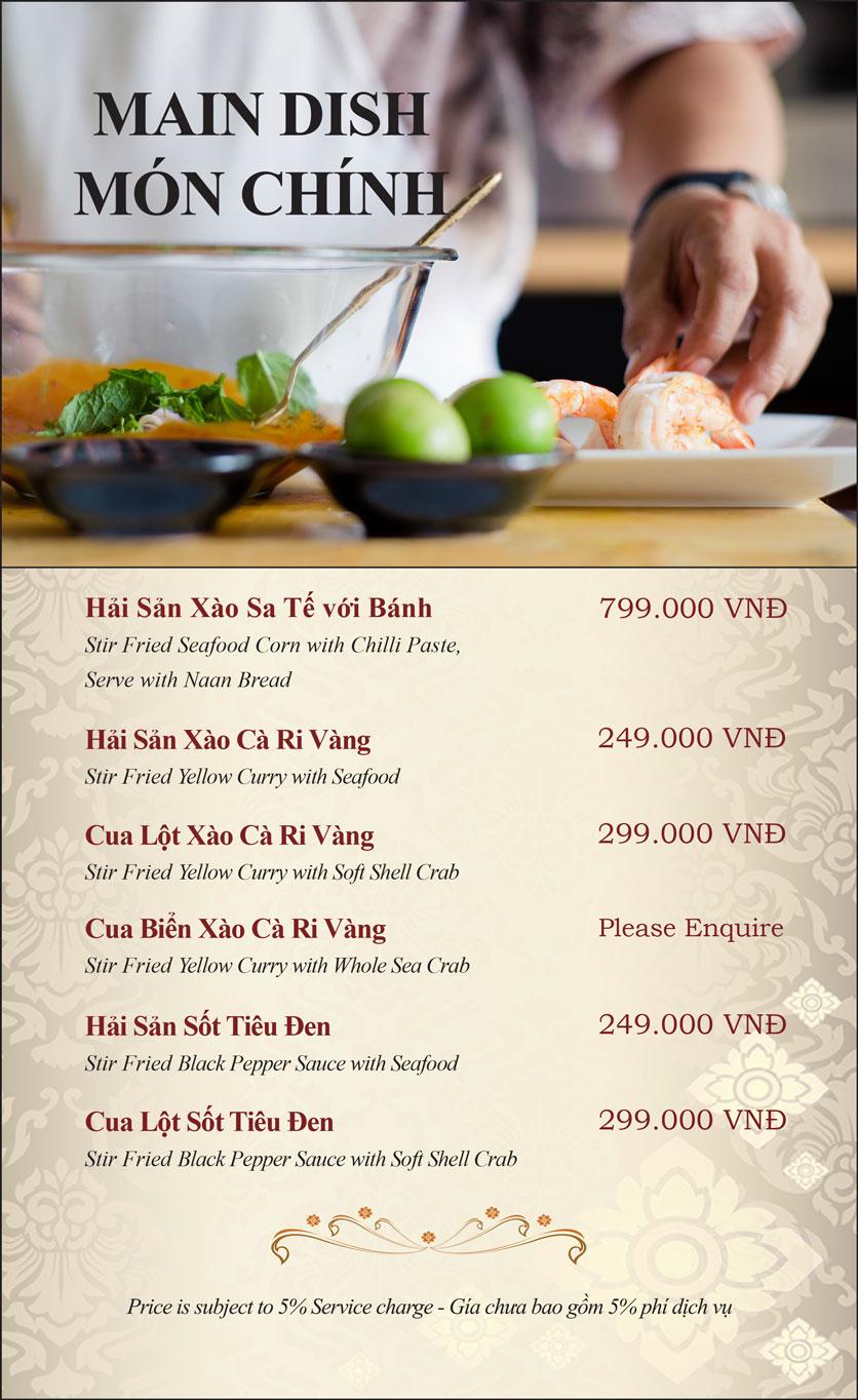 Menu Gusto Thai - Nguyễn Chí Thanh 12