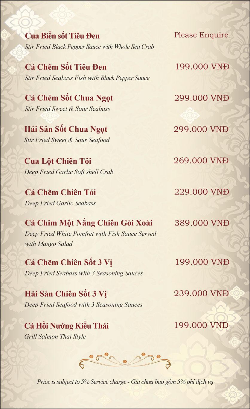 Menu Gusto Thai - Nguyễn Chí Thanh 13