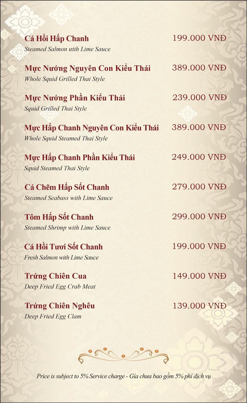 Menu Gusto Thai - Nguyễn Chí Thanh 14