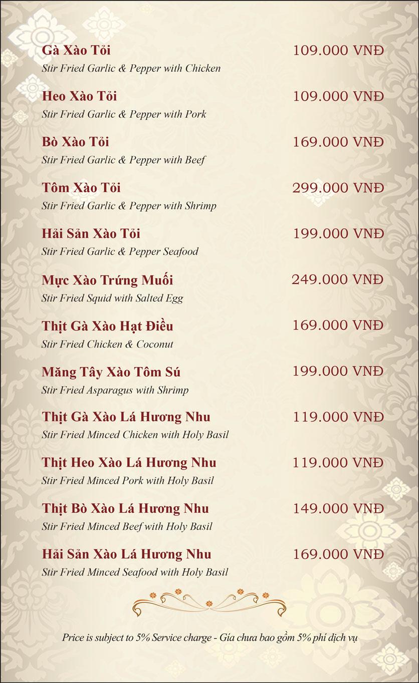 Menu Gusto Thai - Nguyễn Chí Thanh 16