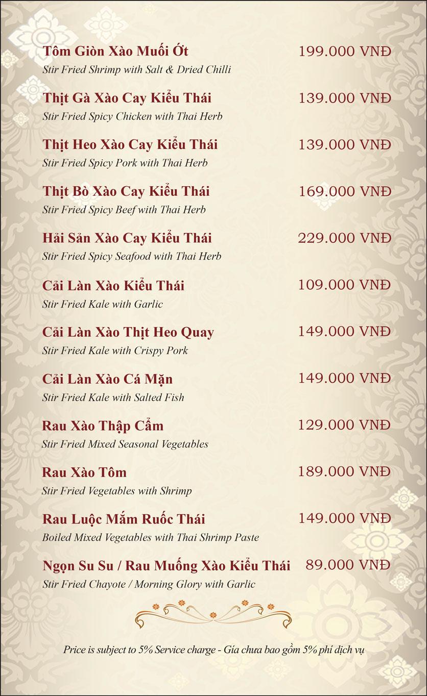 Menu Gusto Thai - Nguyễn Chí Thanh 17
