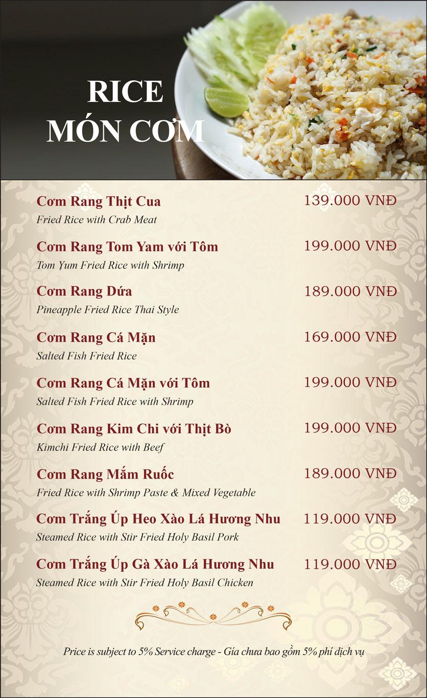 Menu Gusto Thai – Phan Chu Trinh 18