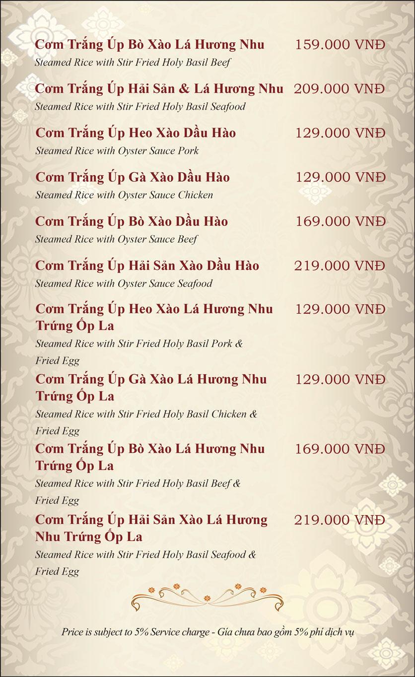 Menu Gusto Thai - Nguyễn Chí Thanh 19