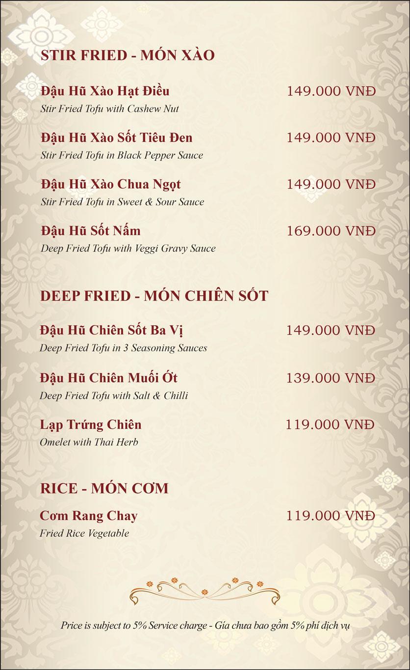 Menu Gusto Thai – Phan Chu Trinh 28