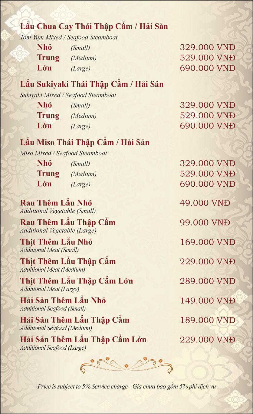 Menu Gusto Thai - Nguyễn Chí Thanh 31