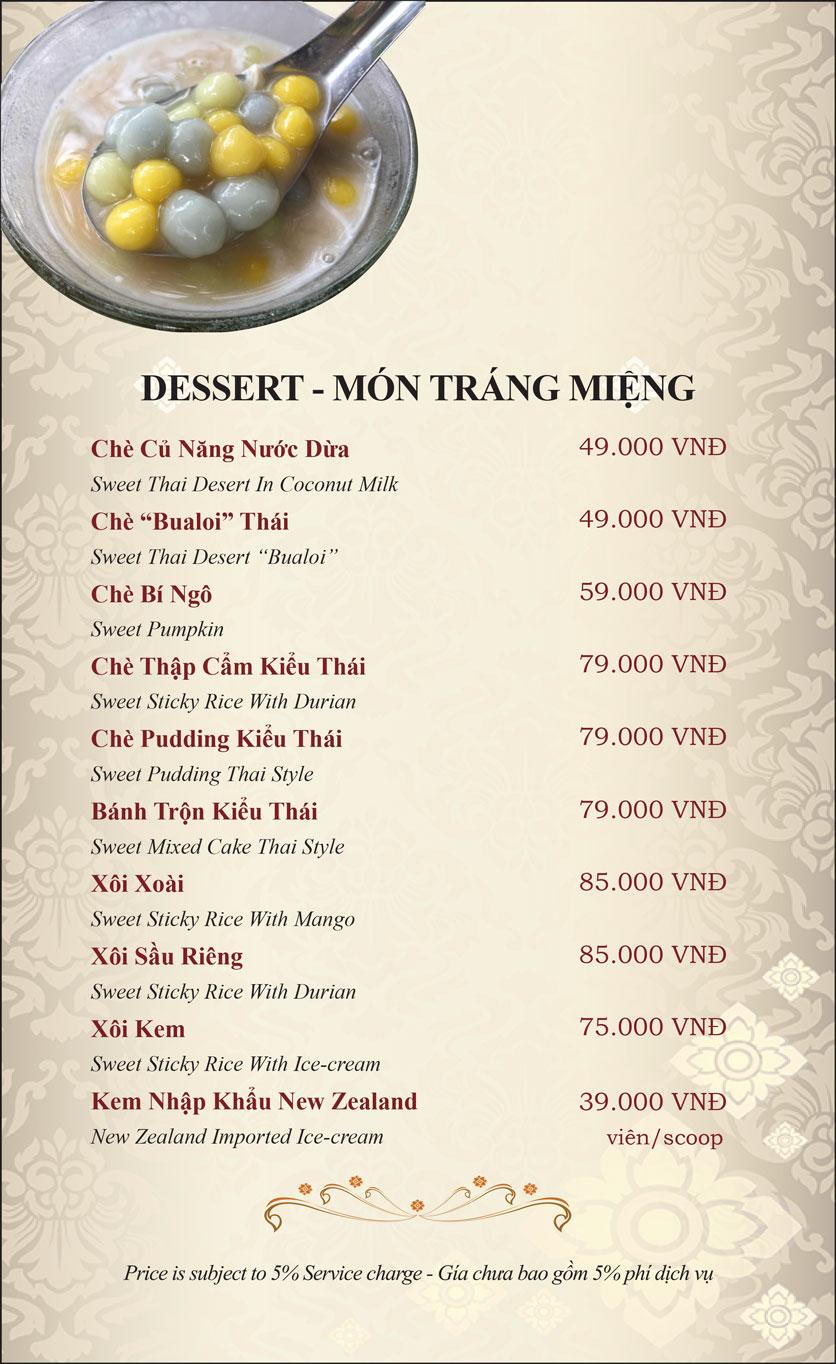 Menu Gusto Thai – Phan Chu Trinh 36