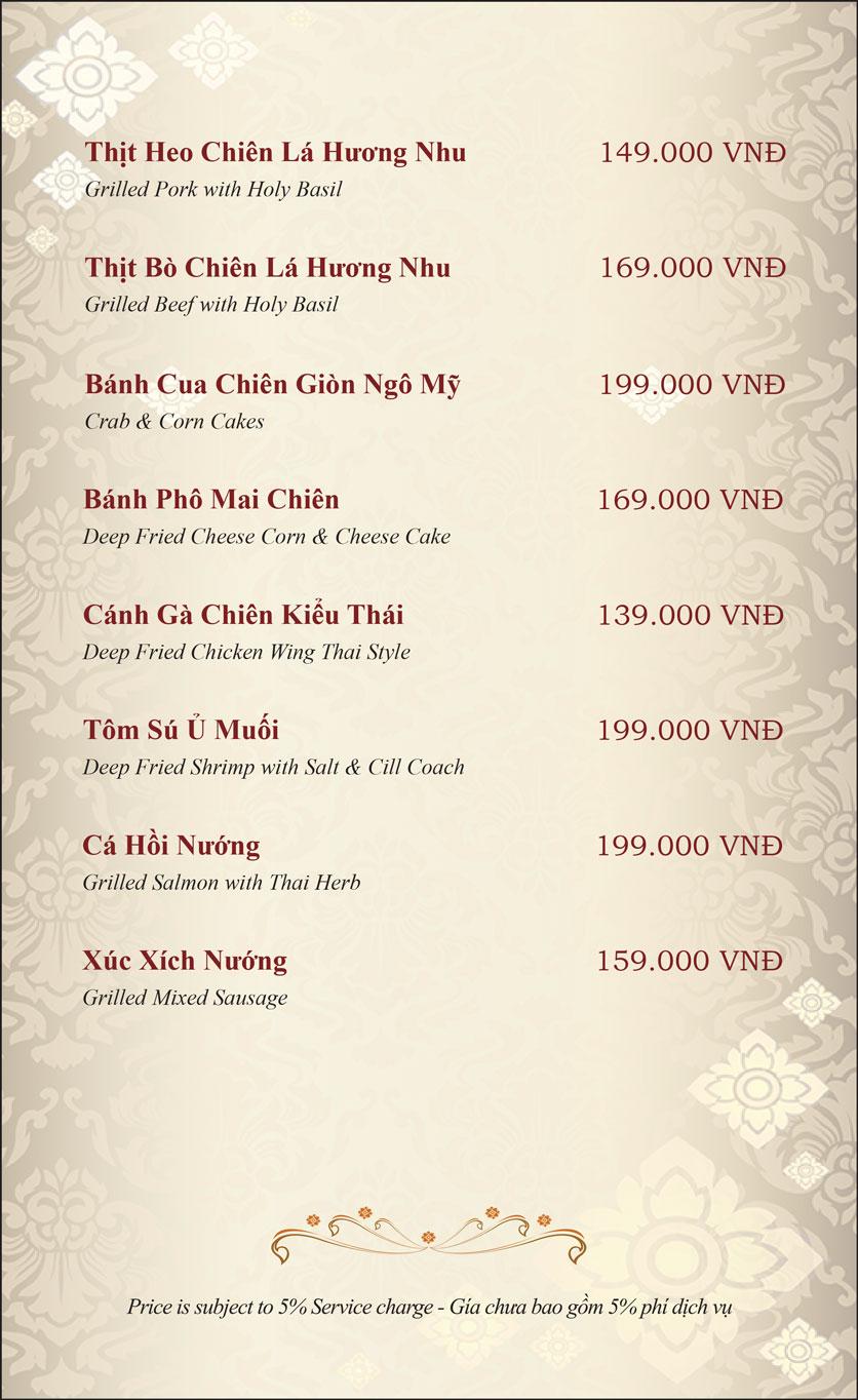 Menu Gusto Thai - Nguyễn Chí Thanh 4