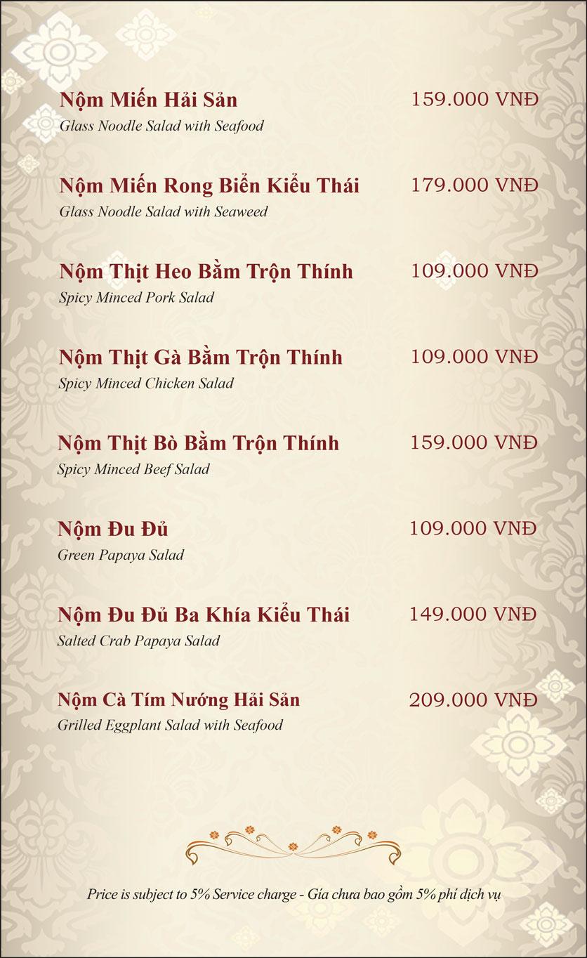 Menu Gusto Thai - Nguyễn Chí Thanh 6