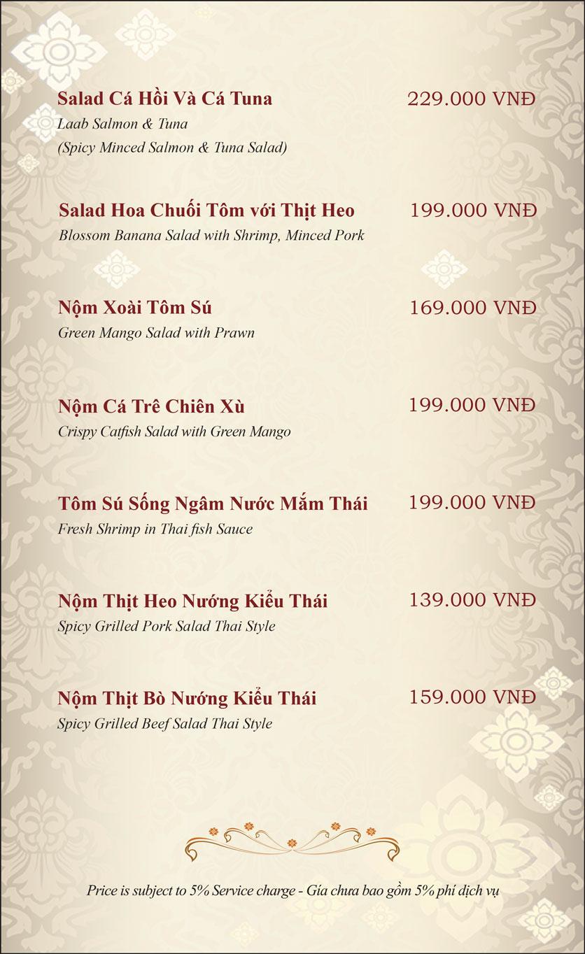 Menu Gusto Thai - Nguyễn Chí Thanh 7