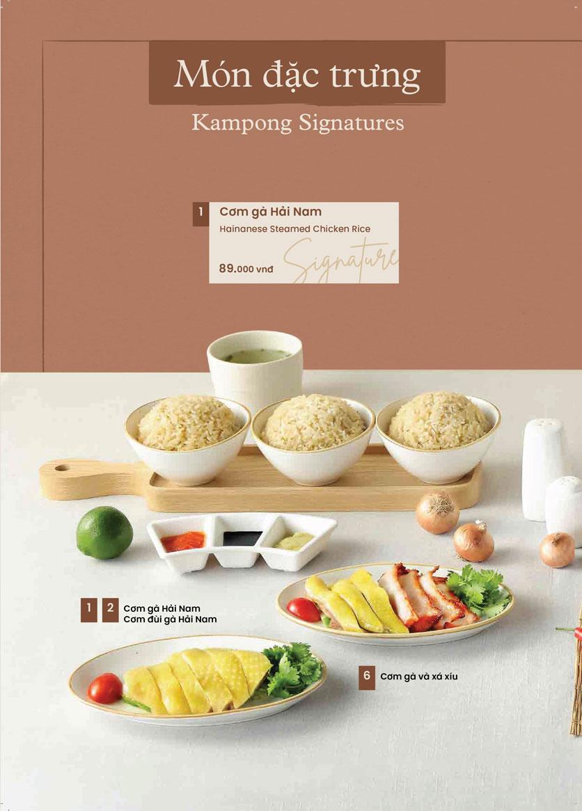 Menu Kampong Chicken House - Cơm gà Hải Nam - Hoàng Đạo Thúy 12