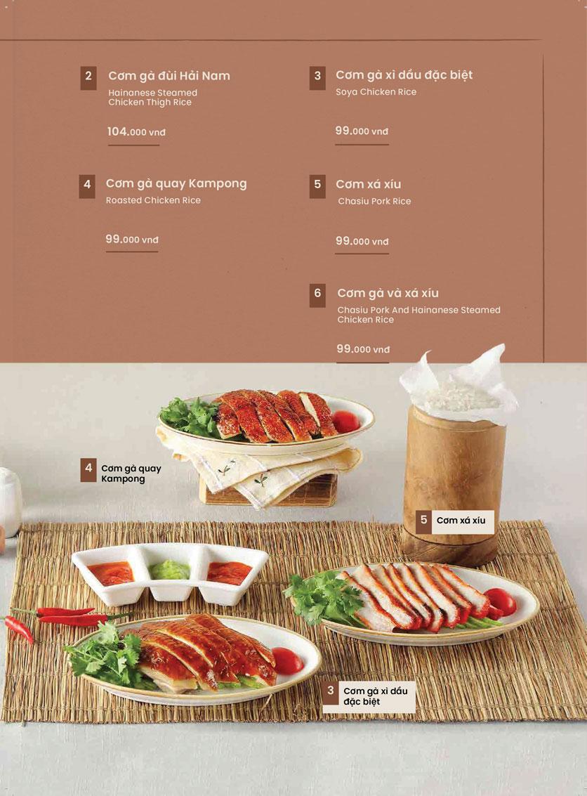 Menu Kampong Chicken House - Cơm gà Hải Nam - Hoàng Đạo Thúy 13