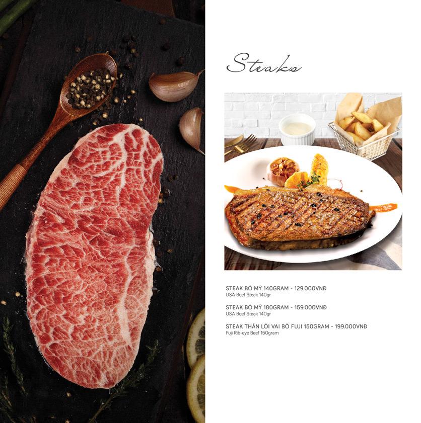Menu Le Monde Steak - Phan Chu Trinh 4