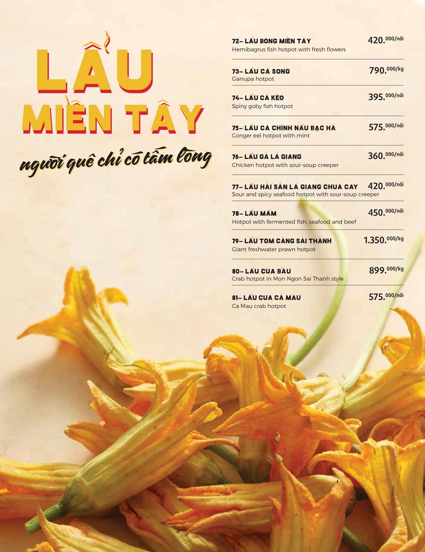Menu Món Ngon Sài Thành - Huỳnh Thúc Kháng 19