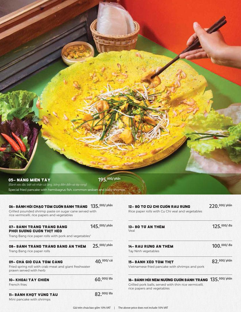 Menu Món Ngon Sài Thành - Huỳnh Thúc Kháng 4