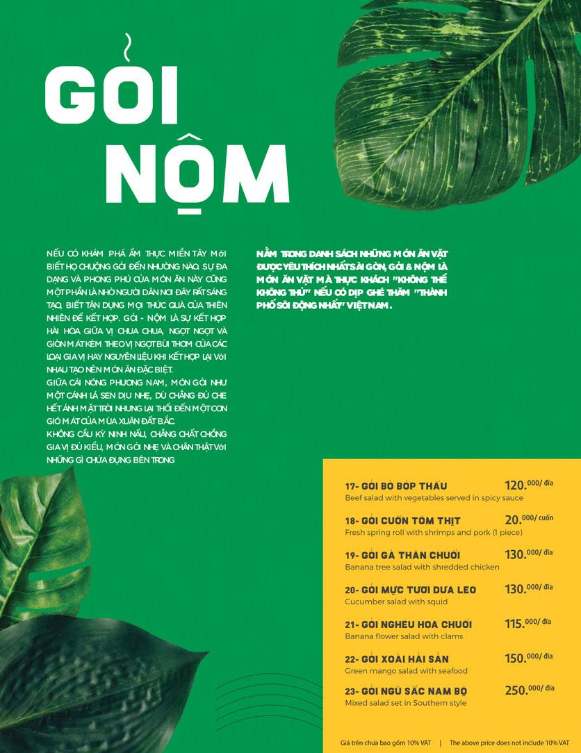 Menu Món Ngon Sài Thành - Huỳnh Thúc Kháng 5