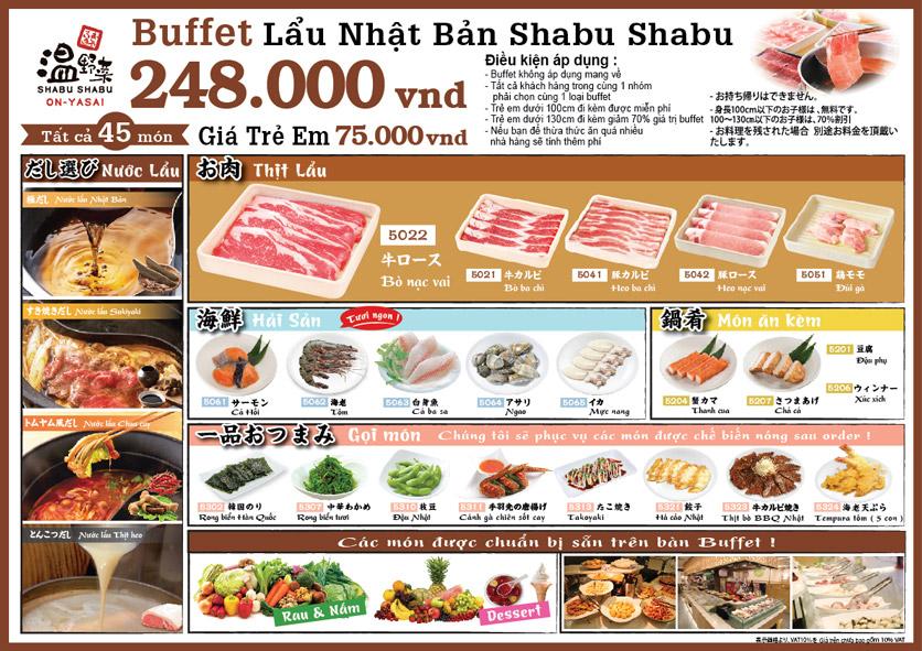 Menu On–Yasai Shabu Shabu – Aeon Mall Canary 2