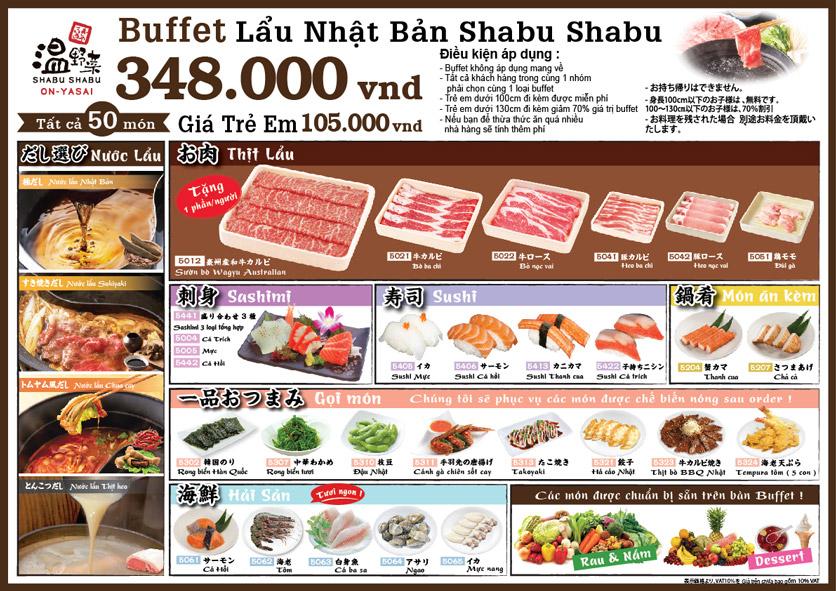 Menu On–Yasai Shabu Shabu – Aeon Mall Canary 3