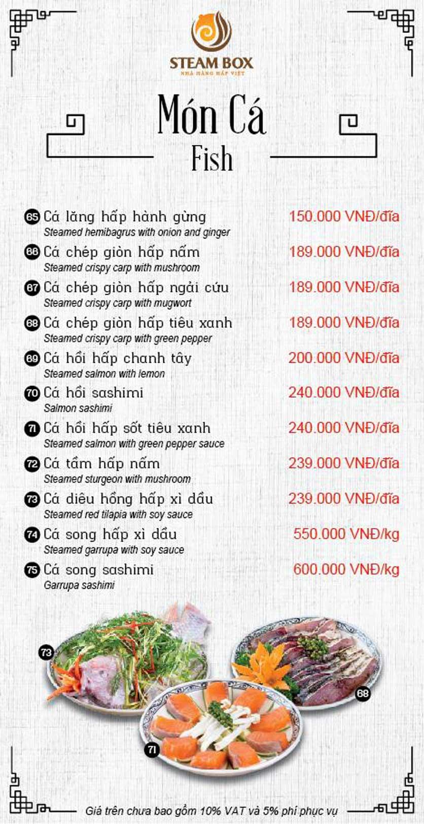 Menu Steam Box  - Nguyễn Thị Định 14