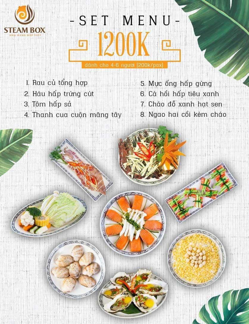 Menu Steam Box  - Nguyễn Thị Định 2