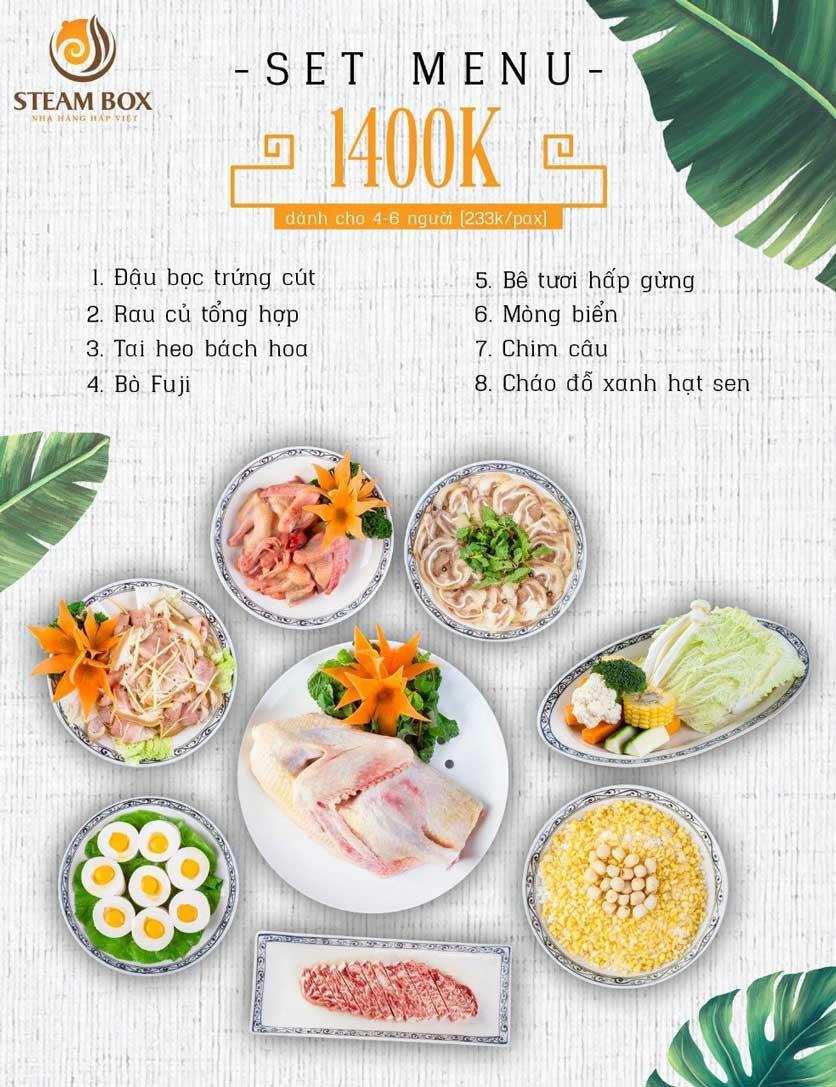 Menu Steam Box  - Nguyễn Thị Định 3