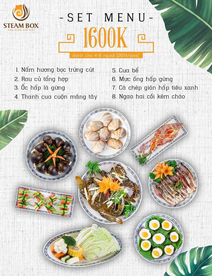 Menu Steam Box  - Nguyễn Thị Định 4