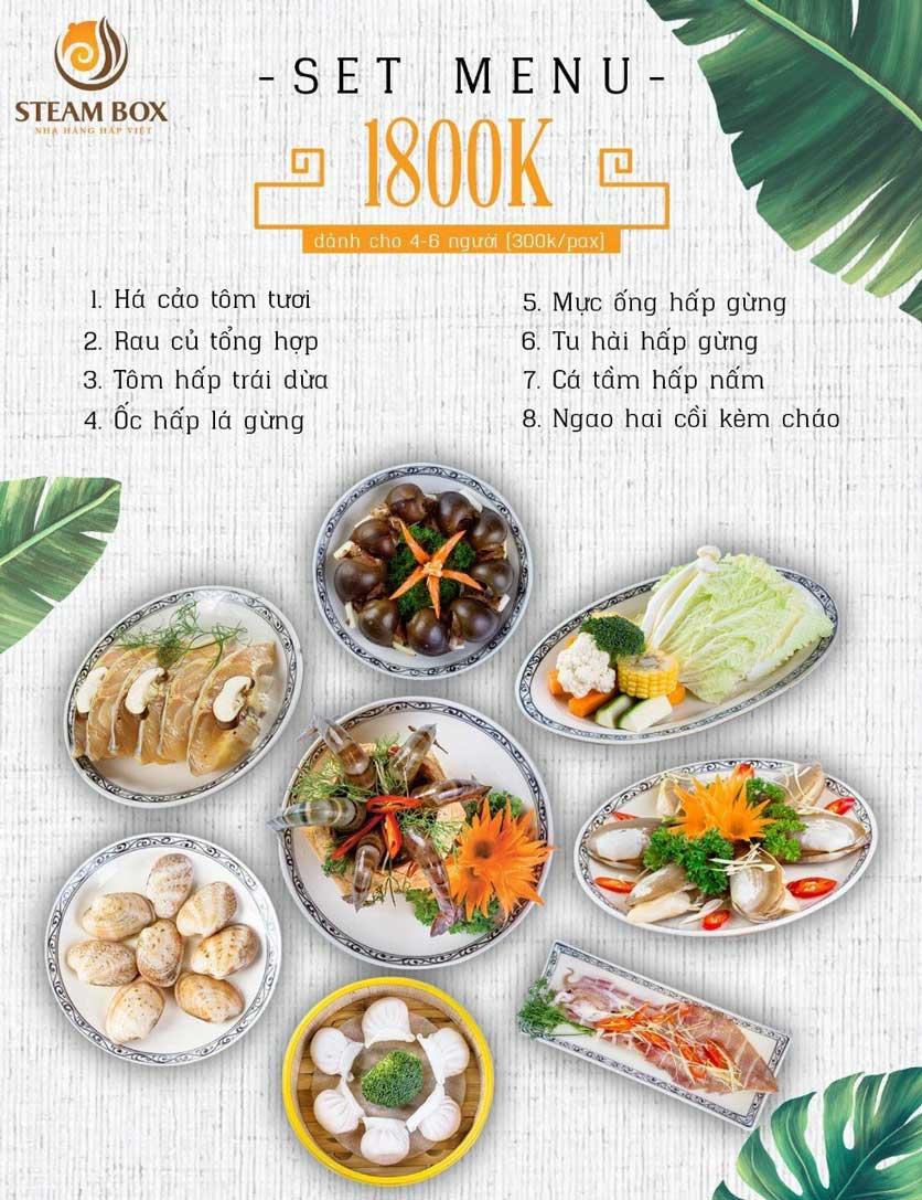 Menu Steam Box  - Nguyễn Thị Định 5