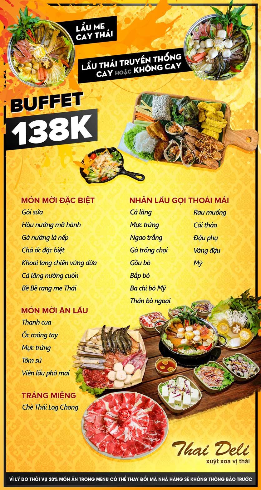 Menu Thai Deli - Buffet Lẩu Thái Hải Sản - Vũ Ngọc Phan 1