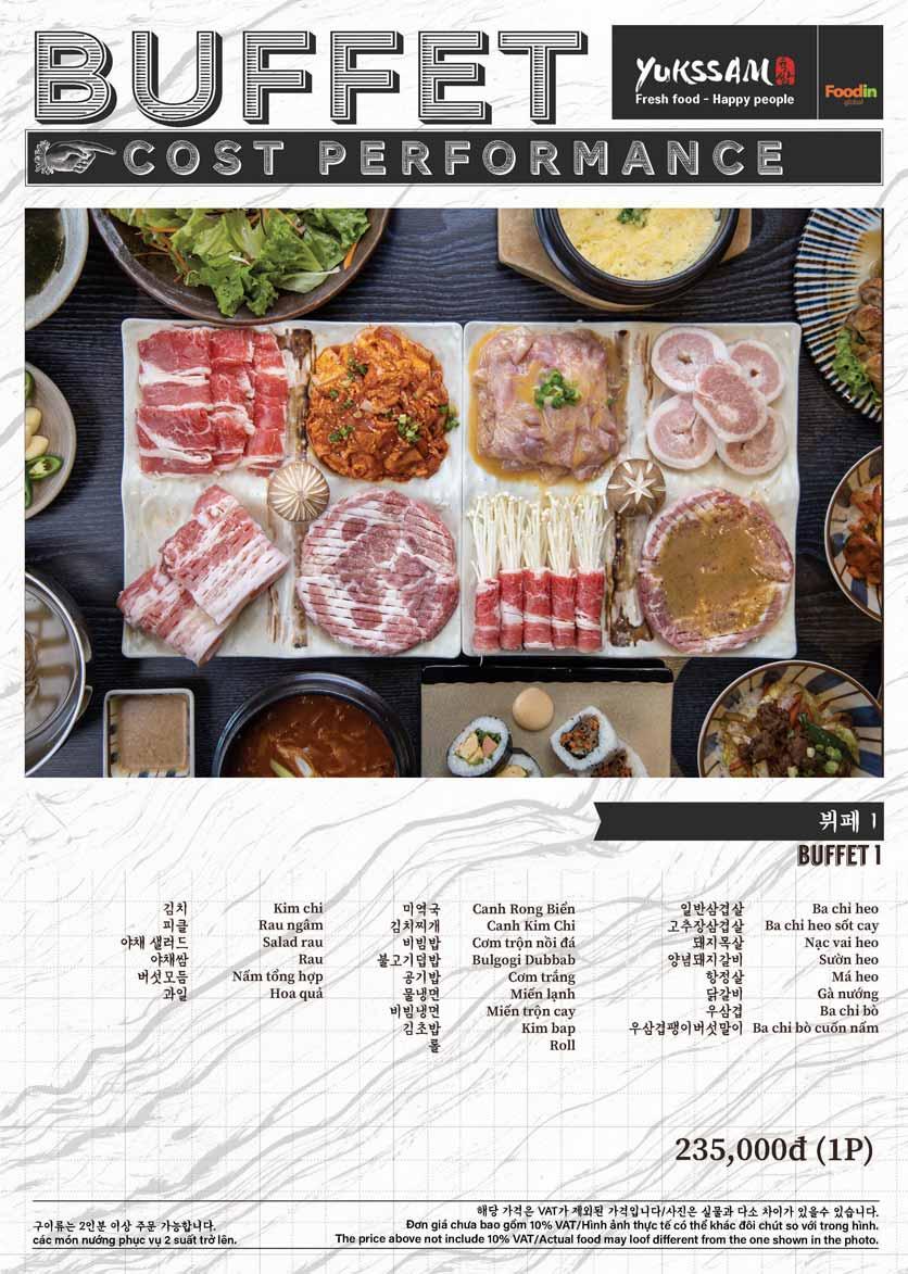 Menu Yukssam BBQ - Trần Thái Tông  1