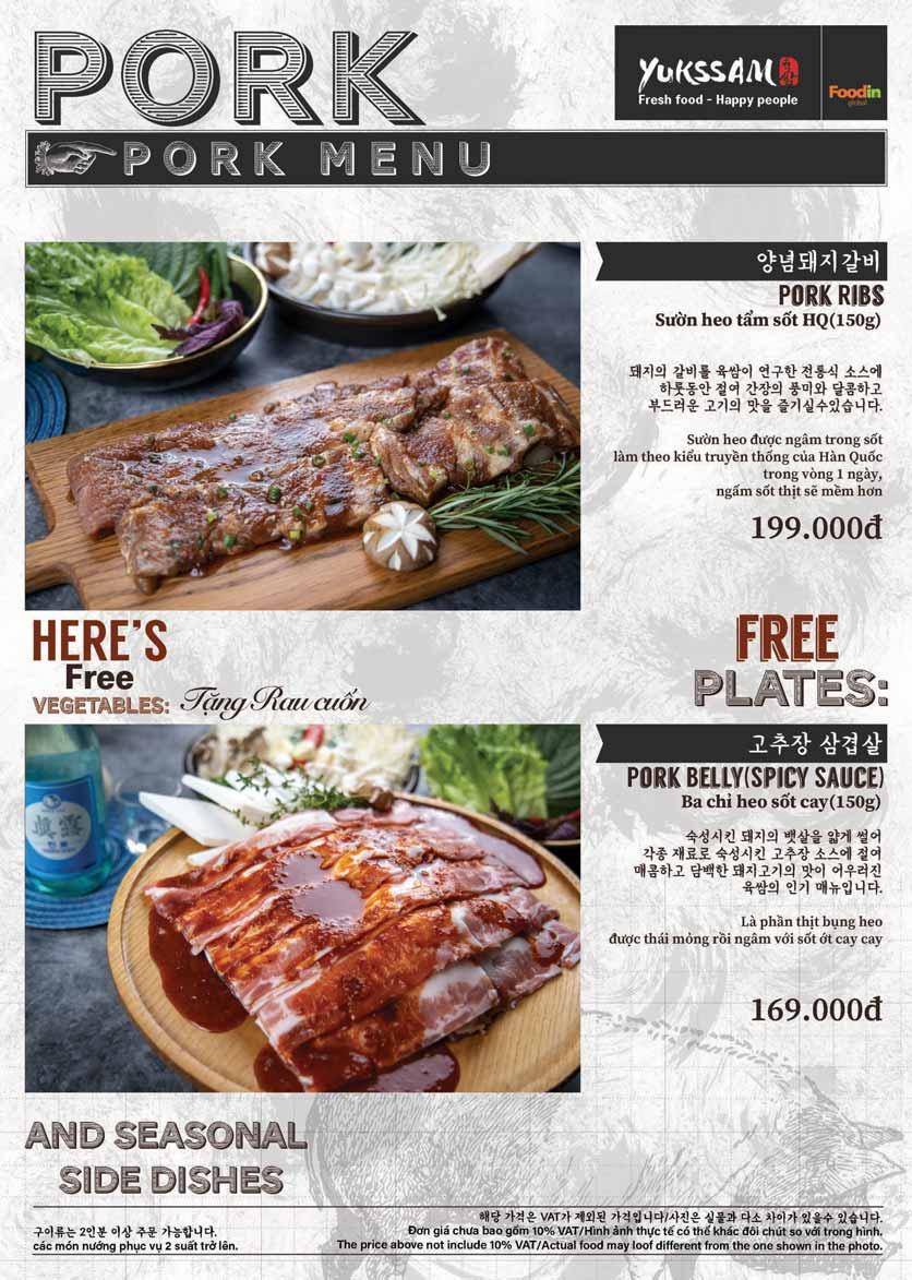Menu Yukssam BBQ - Trần Thái Tông  10