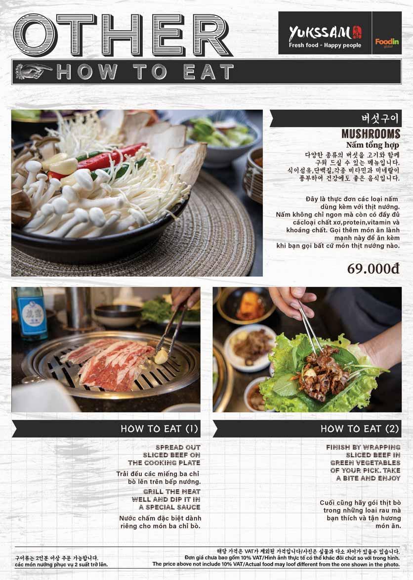 Menu Yukssam BBQ - Trần Thái Tông  13