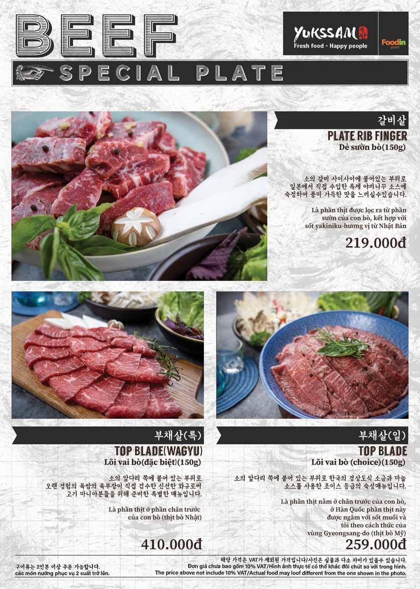 Menu Yukssam BBQ - Trần Thái Tông  16