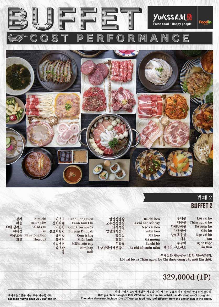 Menu Yukssam BBQ - Trần Thái Tông  2