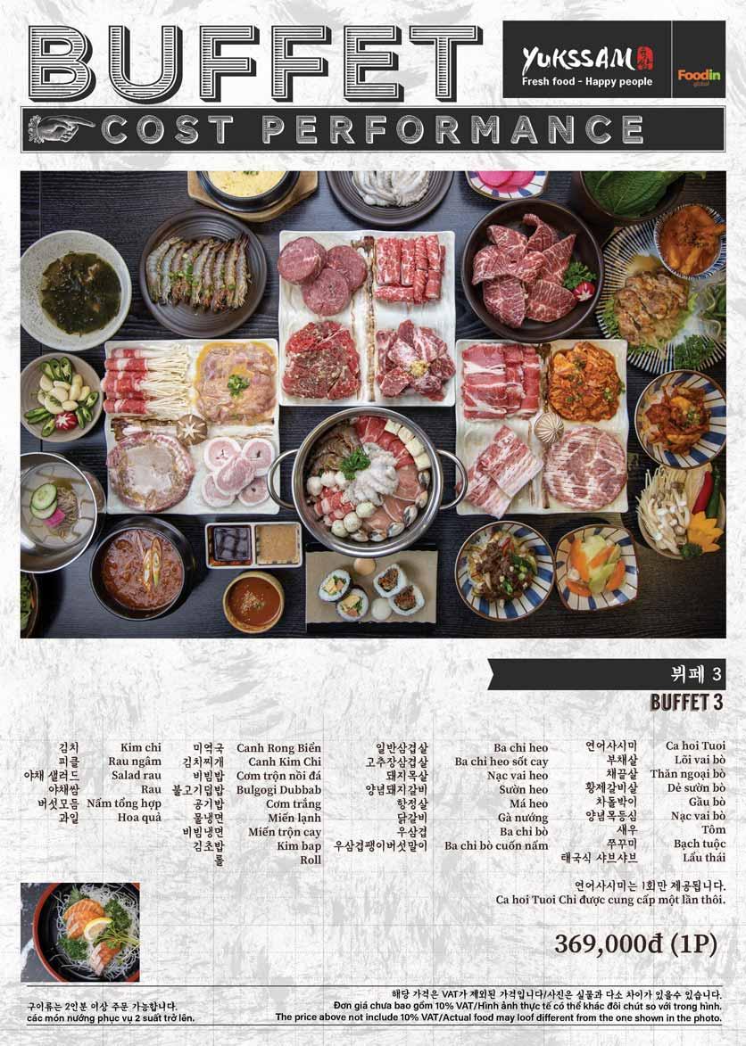 Menu Yukssam BBQ - Trần Thái Tông  3