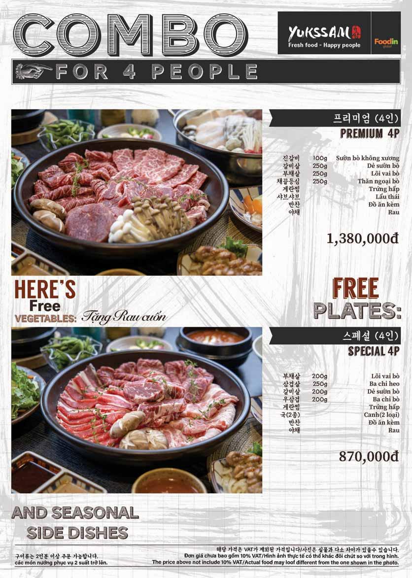 Menu Yukssam BBQ - Trần Thái Tông  7